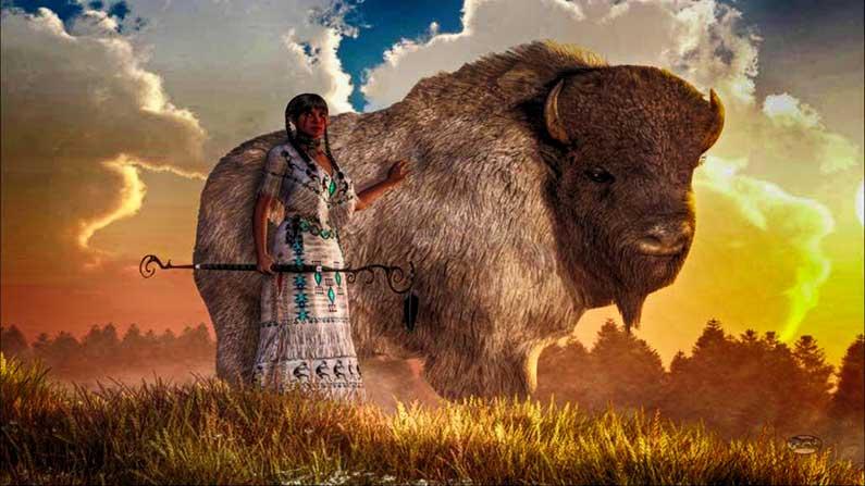 White Buffalo Calf Woman—altaar bouwen en initiëren